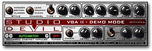 Studio Devil Virtual Guitar Amp full screenshot
